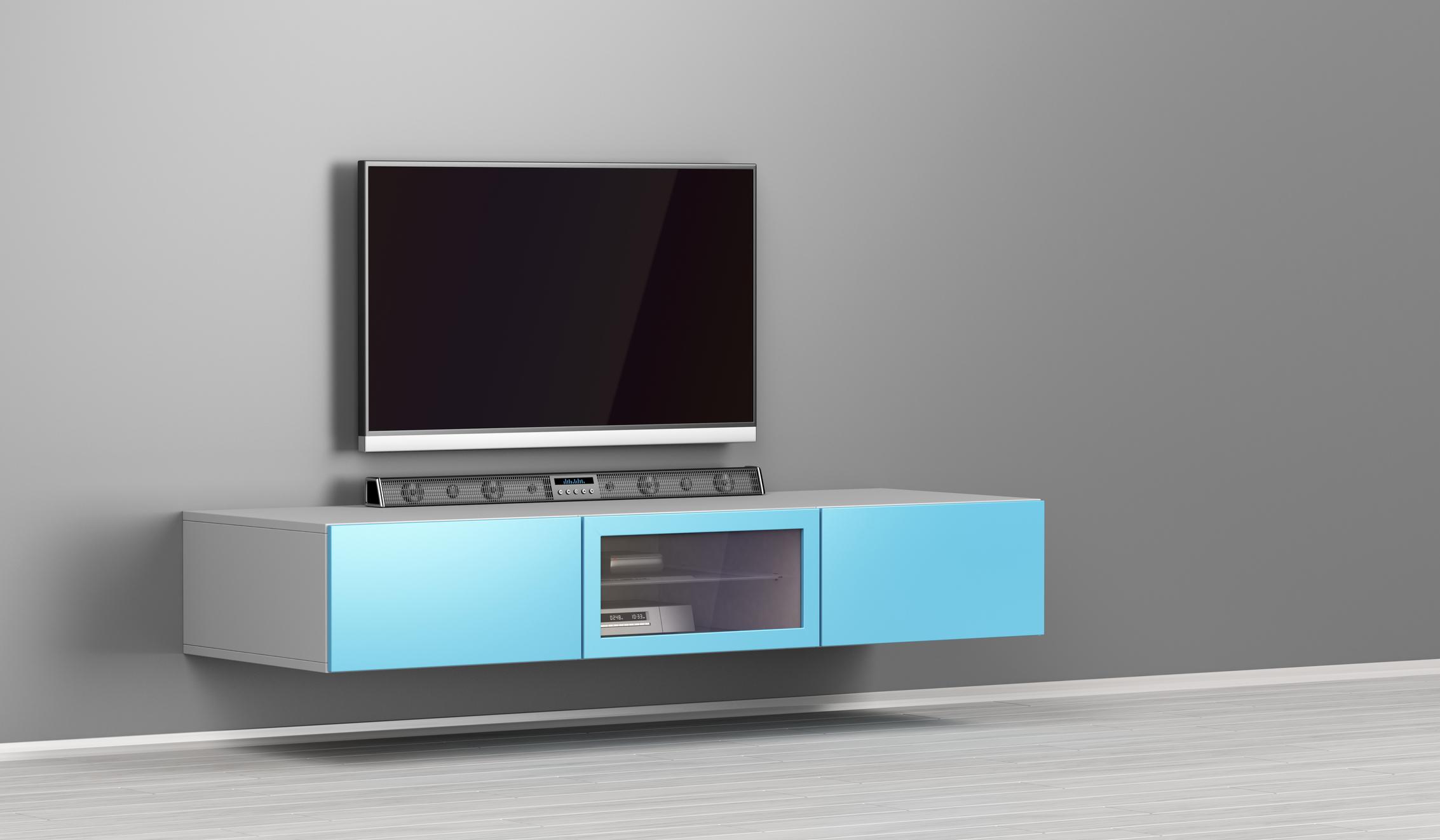 Big led tv with soundbar