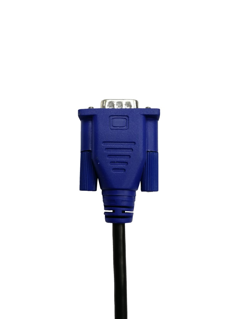 VGA connector isolated on white background with clipping path