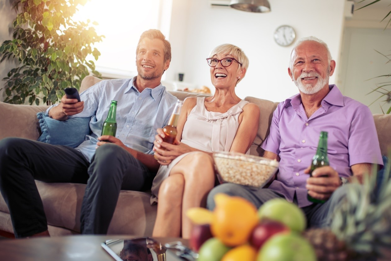 featured image old people enjoying their lovely smart tv