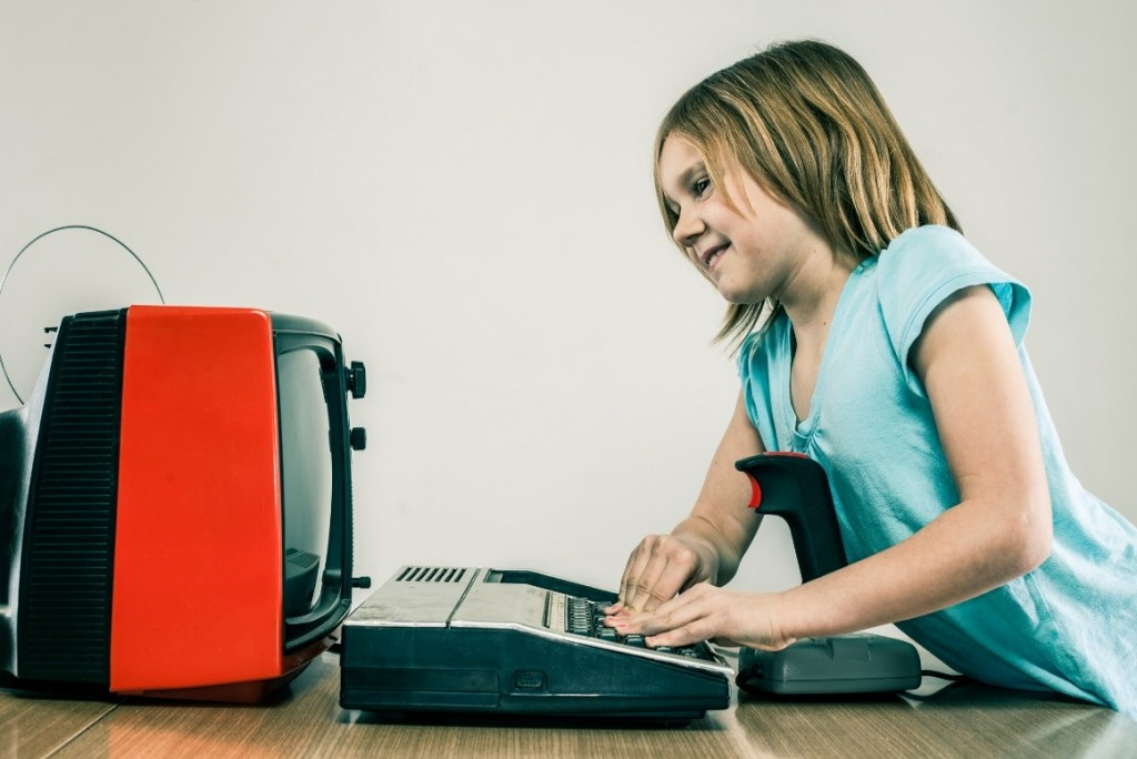 kid playing tv games