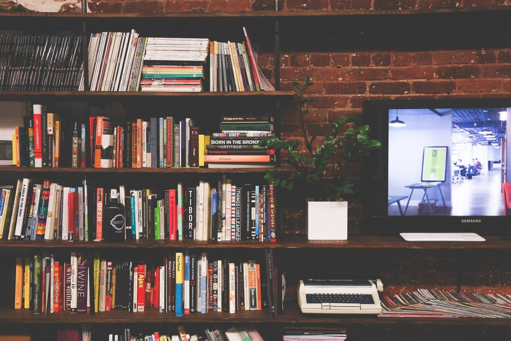 Library with TV