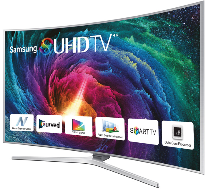 55 Samsung UE55JS9000 Curved 4K SUHD Freeview HD Freesat HD Smart 3D LED TV