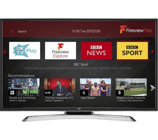 "40"" JVC LT-40C890 4K Ultra HD HDR Freeview Play Smart LED TV"