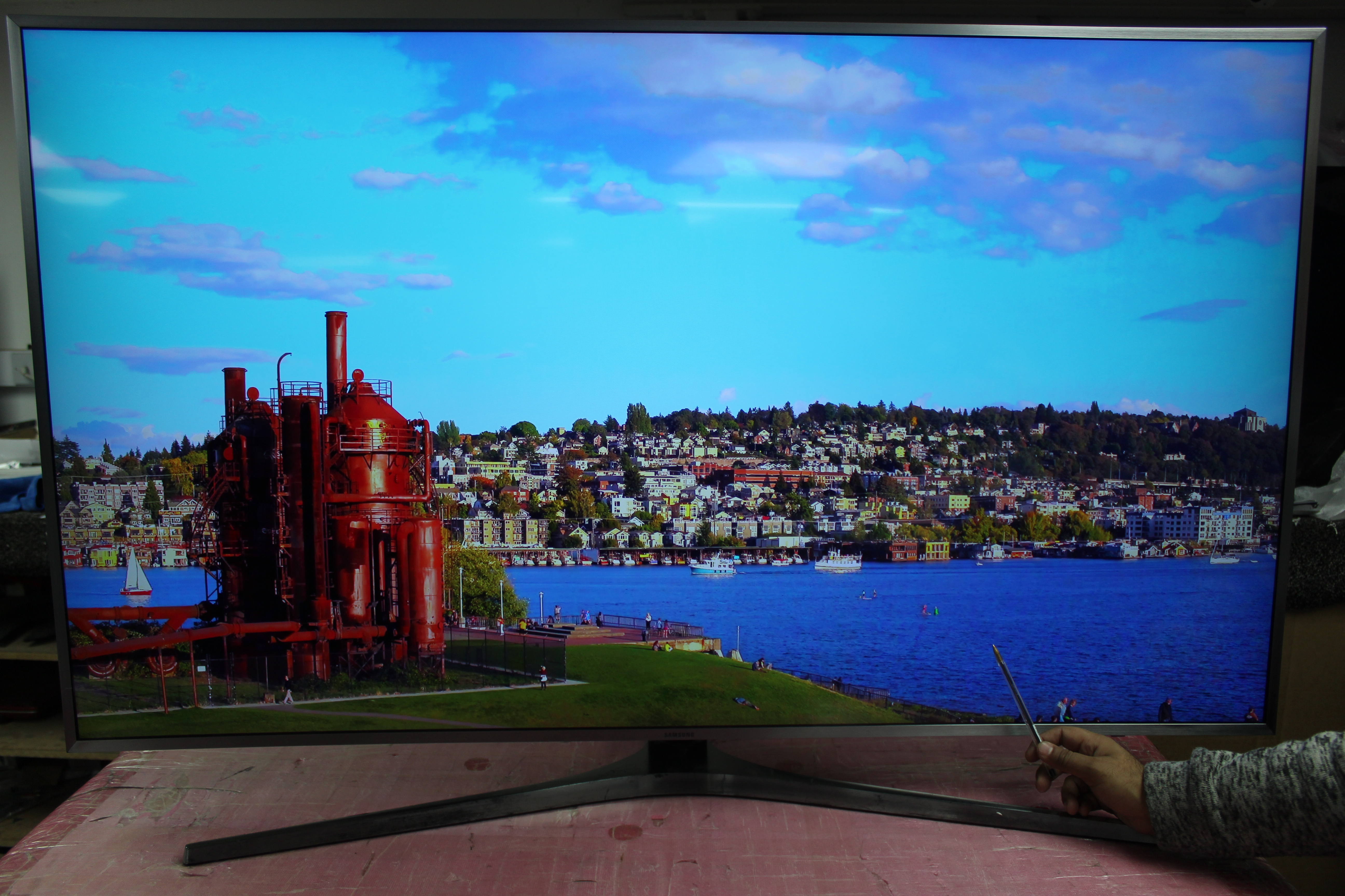 "55"" Samsung UE55MU6670 Curved Ultra HD HDR 4K Freeview HD Smart LED TV"