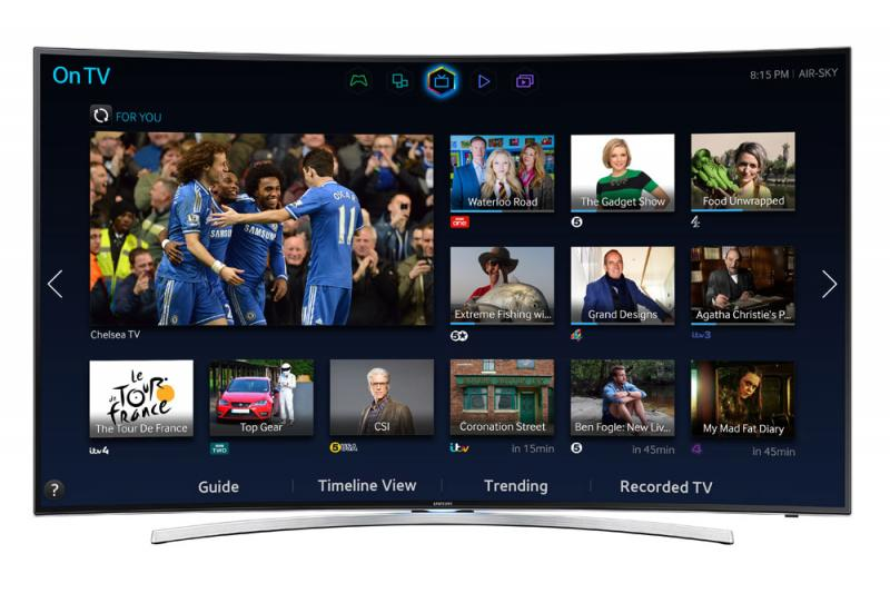 48 Samsung UE48H8000 Curved Full HD 1080p Freeview Freesat HD Smart 3D LED TV