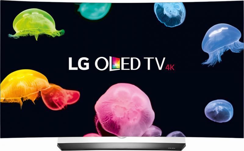 "55"" LG OLED55C6V 4K OLED Ultra HD HDR Curved Freeview HD Smart 3D TV"
