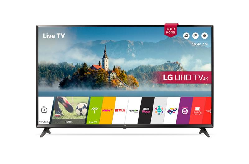 "43"" LG 43UJ630V 4K Ultra HD Freeview Play Freesat HD HDR Smart LED TV"