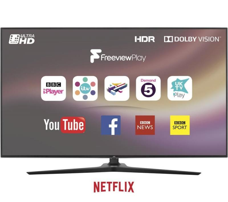 "49"" JVC LT-49C888 4K Ultra HD Freeview HD HDR Smart LED TV"