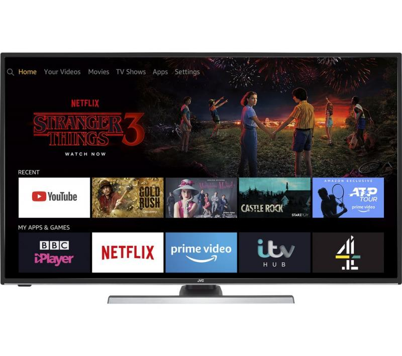 "43"" JVC LT-43CF890 4K Ultra HD HDR Freeview HD Smart LED Fire TV Edition"