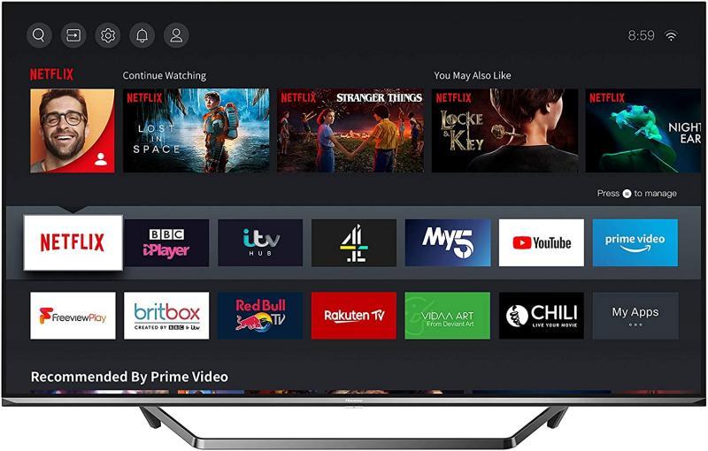 "65"" Hisense 65U7QFTUK Premium 4K HDR Smart QLED TV"